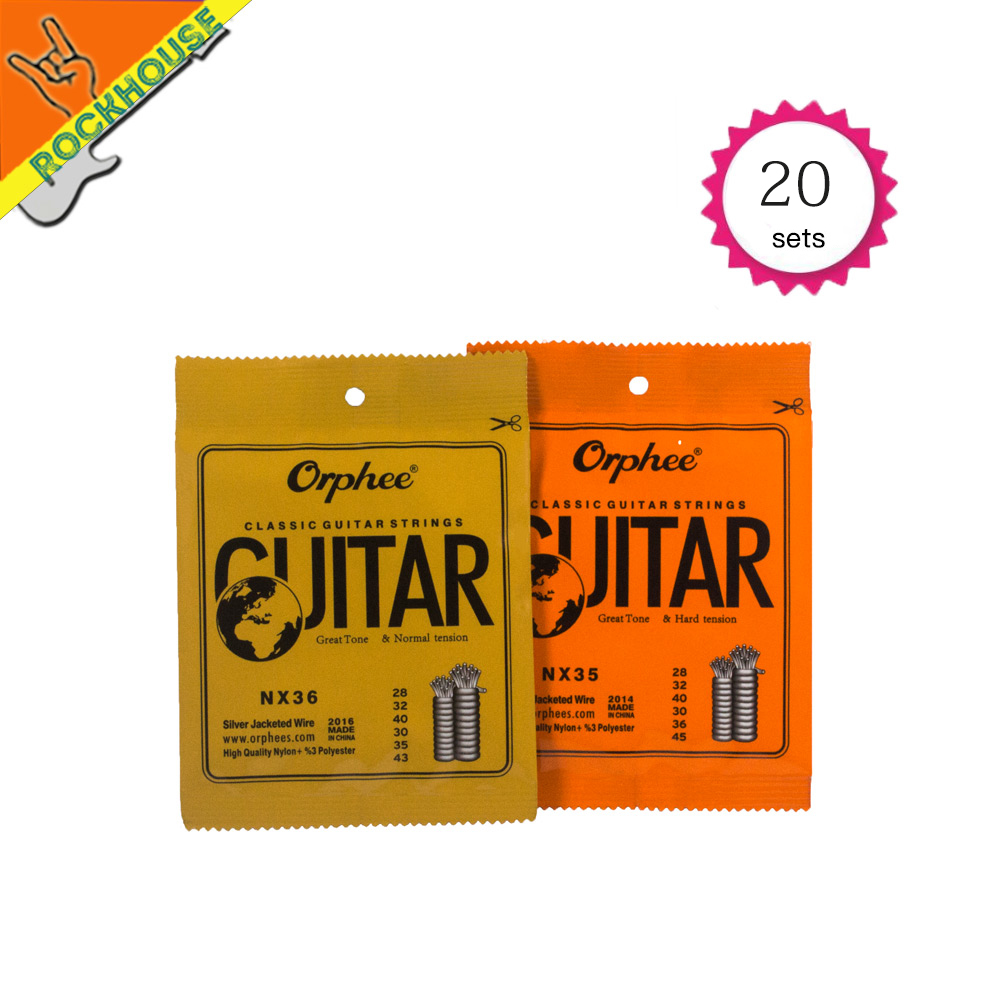 20pcs Classical Guitar Strings Nylon+3%Polyester Classic guitarra strings normal & hard tension Vacuum packing Free shipping original savarez 500cj classical guitar strings full set nylon strings high tension free shipping