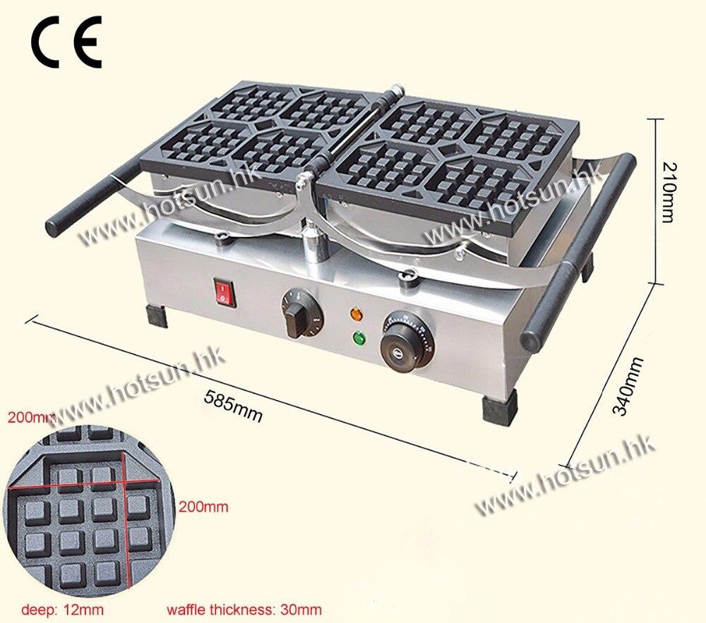 180 Degree Turntable 9.6x9.6cm 220v Electric Liege Swing Belgian Waffle Maker Machine Baker 110v 220v electric belgian liege waffle baker maker machine iron