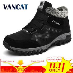 f4703773c7c3 VANCAT Warm Snow Boots Winter Work Shoes Men Footwear Ankle