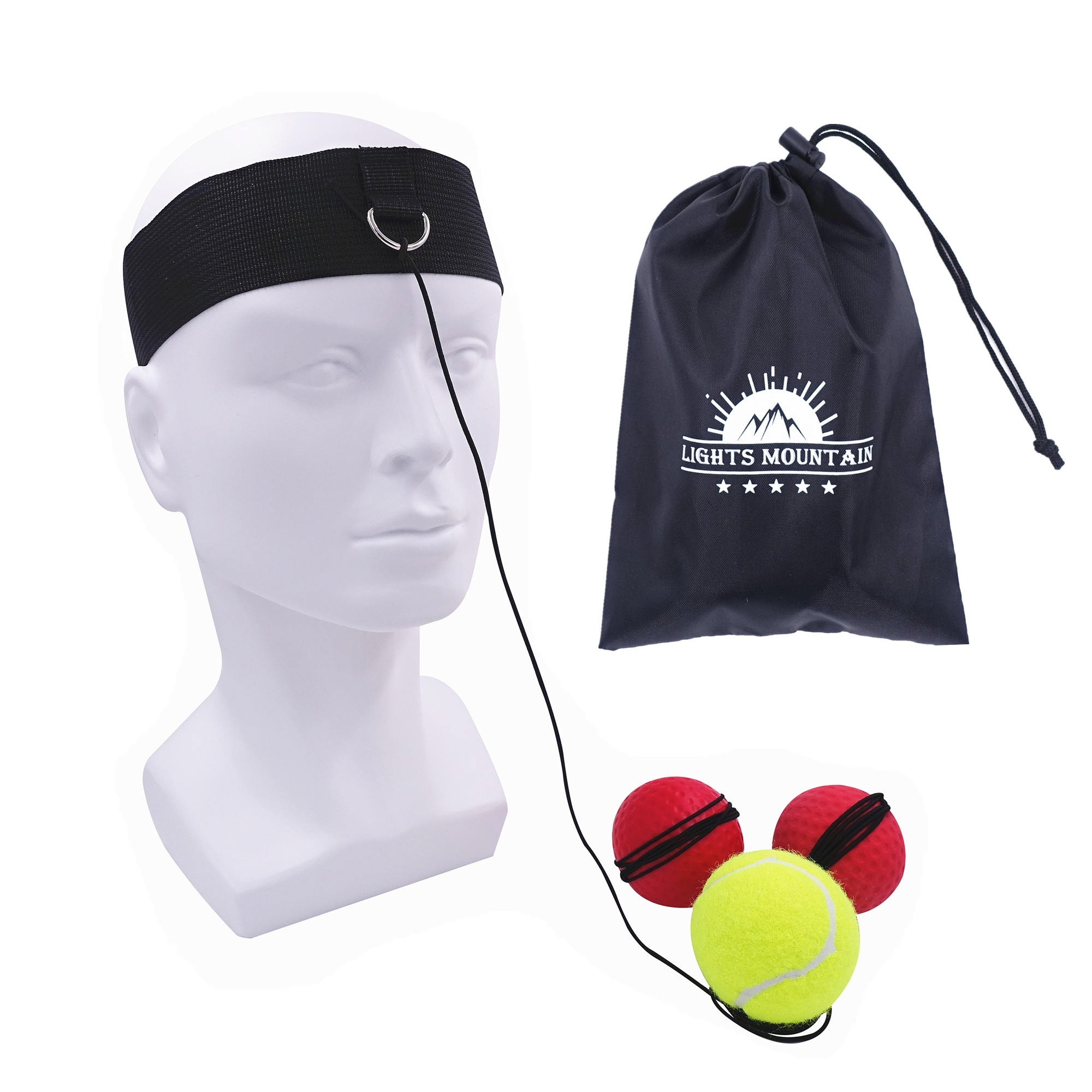 Boxing Reflex Ball Set 3 Difficulty Level Boxing Balls with Adjustable Headband for Punching Speed Reaction Agility Training 9