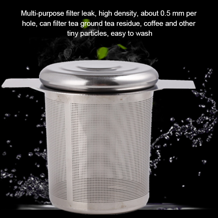 Stainless Steel Tea Infuser Filter Basket Fine Mesh Tea Strainer with 2 Handles Strainer Dropshipping FAS
