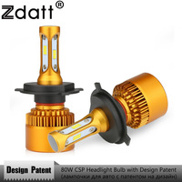 Zdatt CSP 80W 8000Lm LED H4 H7 Leds H11 H1 9005 HB3 9006 H8 H9 Headlight