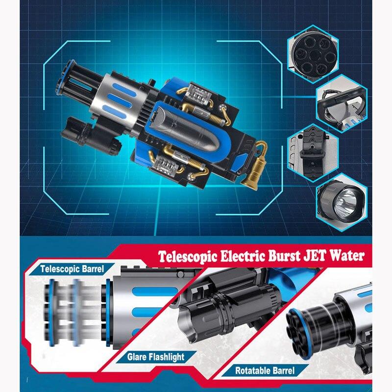 Électrique télescopique éclate Gatling canon à eau jouet pistolets Air balle molle arme pour enfants garçon extérieur CS jeu Paintball cadeaux - 2