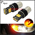 4pcs Error Free Amber 7507 BAU15S PY21W LED Bulbs For BMW 1 2 3 4 5 Series X1 X3 X4 X5, etc Front or Rear Turn Signal Lights