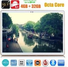 Regalo de navidad de la Tableta de 10 pulgadas 3G 4G LTE Octa Core Tablet 4 GB RAM 32 GB ROM Android 5.1 IPS GPS wifi 5.0MP 10.1 Phablet DHL envío