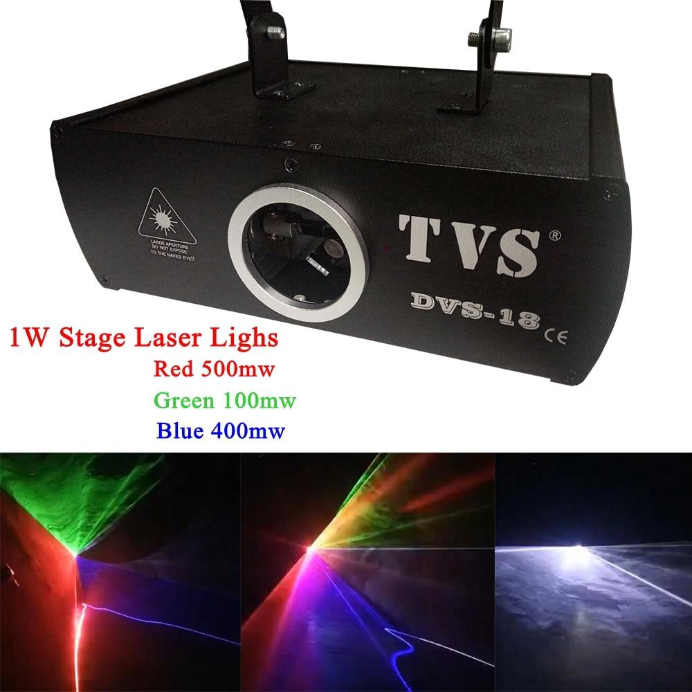 1Pcs/Lot Free Shipping Stage Laser Light RGB Full Color Motor Scanning Laser Beam Stage Lighting For Dj Disco KTV Nightclubs