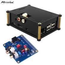 Wholesale Miroad I2S Interface PiFi DIGI DAC+ HIFI Digital Audio Sound Card +Acrylic Case for Raspberry pi 3 2 Model B B+ V2.0 Board SC08C