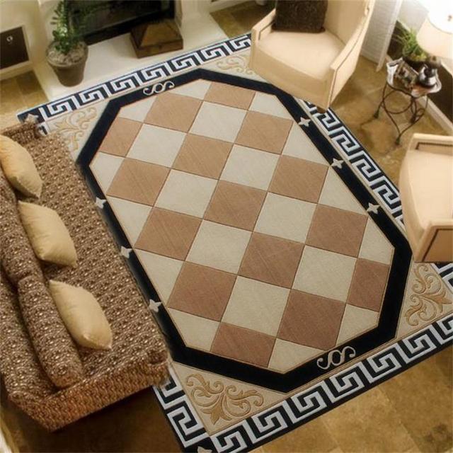 Clic Retro Plaid Carpets For Living Room Handmade Acrylic Area Rugs Bedroom Sofa Soft Study