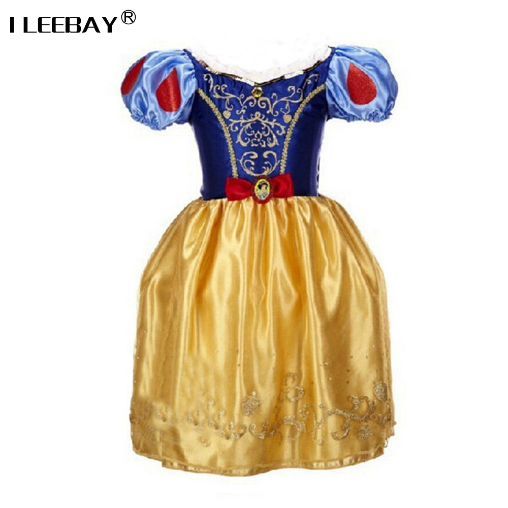 Sofia Cinderella Rapunzel Belle Snow White Girl Kid Short Sleeve Princess Dress Up Teenage Halloween Party Dress Cosplay Costume kids girls summer cotton dress children girl snow white sofia cinderella rapunzel princess dresses 1 5t cosplay costume t469
