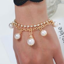Fashion Women Bracelets Temperament Charm Lady Simple Chain Jewelry Wild Artificial Pearls Cool Style Personality Bracelet