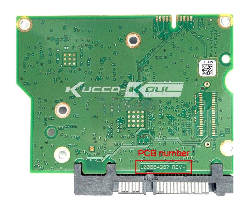 Piezas de disco duro PCB placa lógica tarjeta de circuito impreso 100664987 para Seagate 3,5 SATA hdd Recuperación de Datos Reparación de disco duro