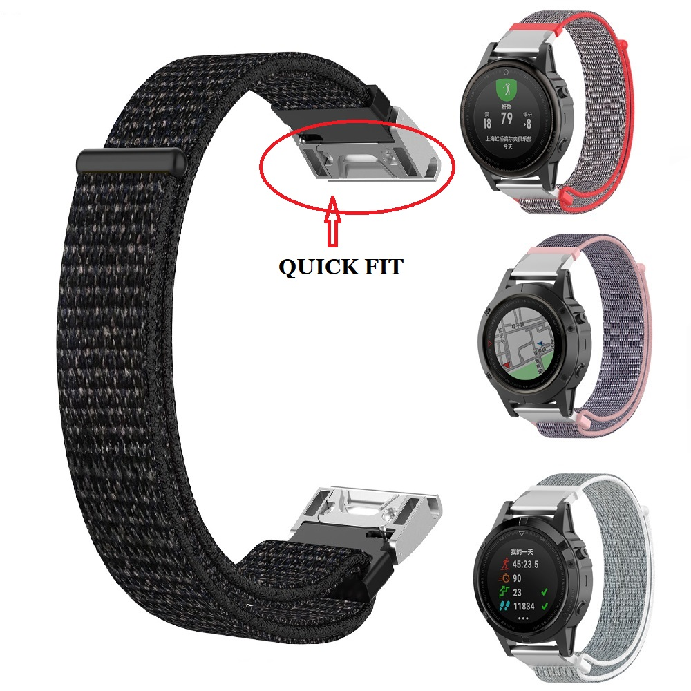 For Garmin quick fit 20m 22mm 26mm Easy Quick Fit nylon Strap for Fenix 5X Plus 3 3HR Descent MK1 5