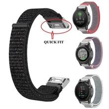 For Garmin quick fit 20m 22mm 26mm Easy Quick Fit nylon Strap for Garmin Fenix 5X Plus Fenix 3 3HR Descent MK1 Fenix 5 Plus