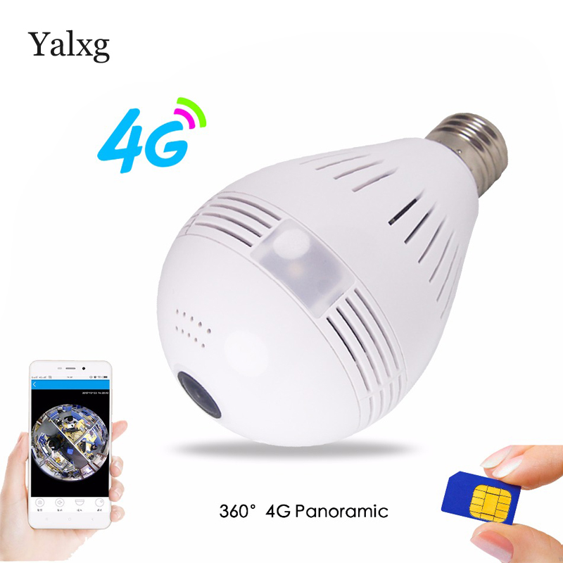 HD Home Security 3G 4G SIM Card Camera 960P 360 degree VR Wireless IP Camera Built-in Mic Led Bulb Light Wi-fi FishEye Lens DVR kindle paperwhite1 6 high resolution 300ppi displaywith built in light wi fi includes special offers