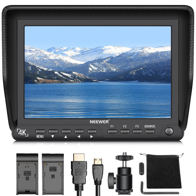 Neewer 7 inches 4K HD On Camera Field Monitor with HDMI