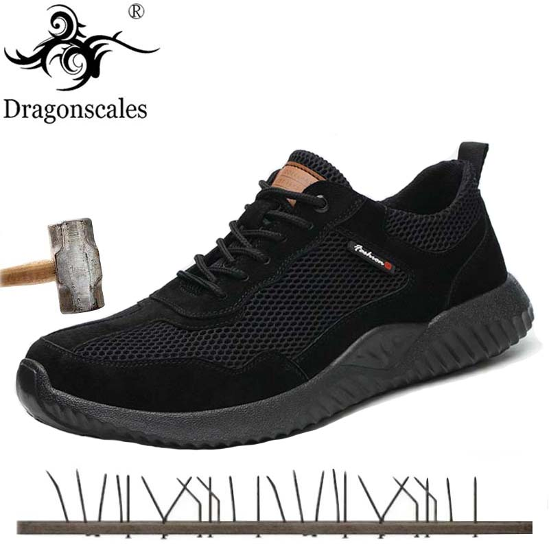 Letnie męskie buty robocze BHP moda popularne wygodne oddychające przebicie liniowej stali nierdzewnej antypoślizgowe obuwie ochronne w Obuwie robocze i ochronne od Buty na AliExpress - 11.11_Double 11Singles' Day 1