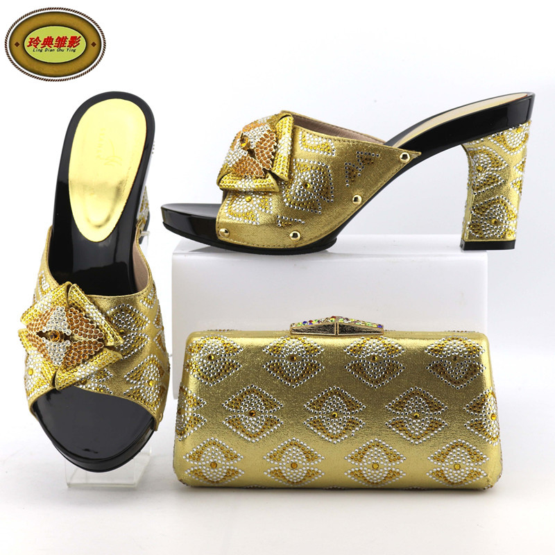2088-65 Most Popular Wedding High Heels And Bag Set Good Looking African Women High Heels Pumps Matching Purse For Wedding nx7 28adr plc very new looking and in good condition