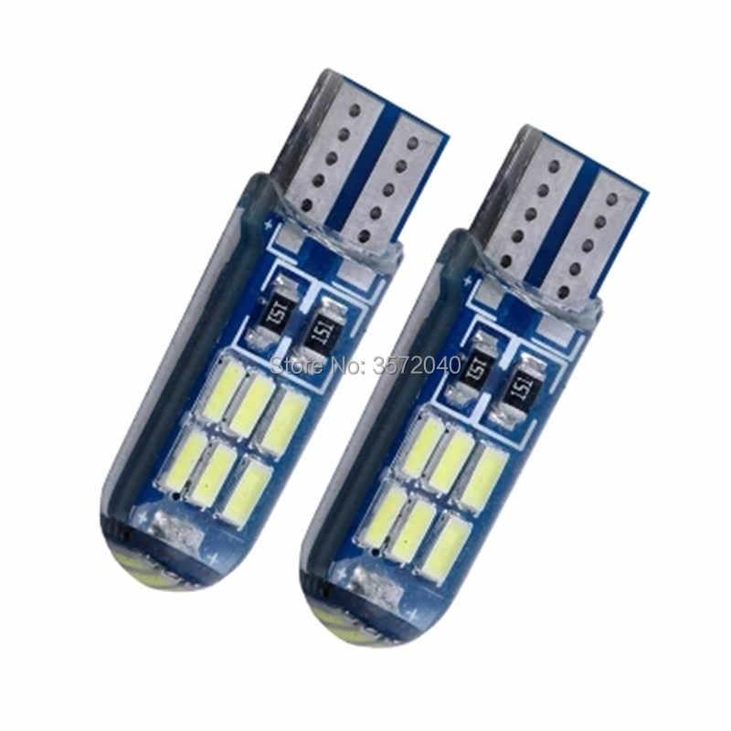 Envío gratis 2 uds T10 W5W 194 12v lámpara LED blanco rojo hielo azul estroboscópico luces para Mini Cooper Paceman Countryman car styling