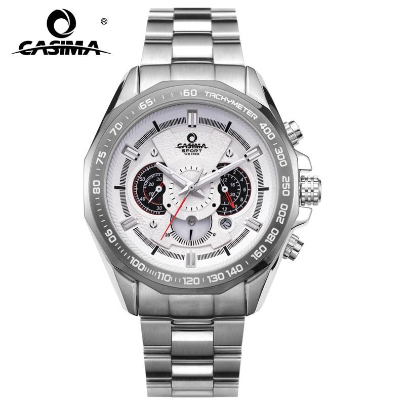 Casima marca de lujo relojes hombres caliente Dazzle Cool cuarzo de los hombres del deporte reloj masculino al aire libre tabla calendario 100 M impermeable #8206