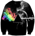 Women/men Harajuku Dark Psychedelic pink floyd 3D Print Sweatshirt Hoody Autumn Pullover Streetwear Drop Ship plus size S-XXXL