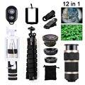 Más reciente de 8x zoom lente teleobjetivos para iphone xiaomi redmi 2 3 S 4 nota 3 Telescopio de Gran Angular ojo de Pez Macro Lentes microscopio