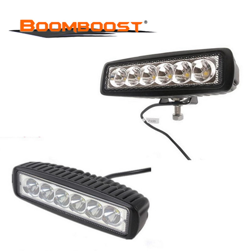 For Off road SUV Universal Car 18W Flood Lamp Driving 6 LED Light 1pcs Spotlight Accessories 4WD Car Boat Truck image