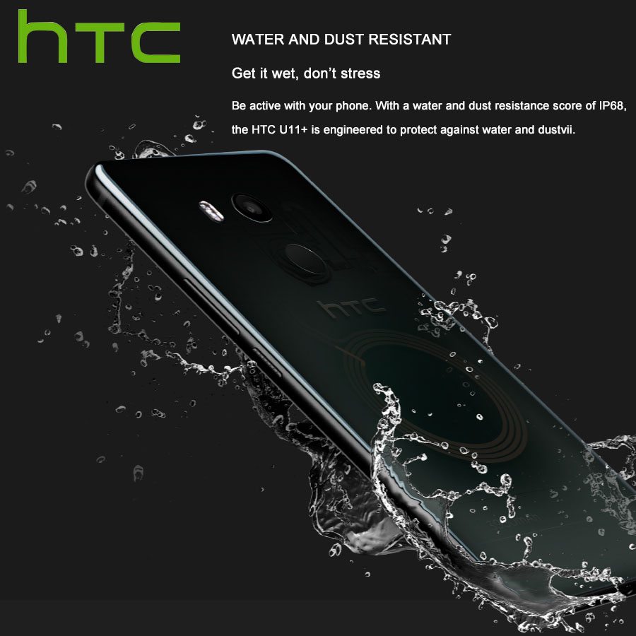 Image 3 - HK Version HTC U11 Plus U11+ 4G LTE Mobile Phone 6GB RAM 128GB ROM 2160P Octa Core 6.0inch IP68 1440x2880P Android 8.0 Callphone-in Cellphones from Cellphones & Telecommunications