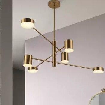 Современная модная черная Золотая белая длинная светодиодная подвесная люстра для зала, кухни, гостиной, спальни