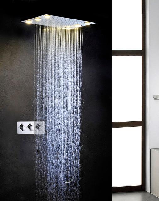 Online Shop 110V~220V AC Shower Head Rain Bath & Shower Hot And ...