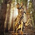 Луна богиня Артемида Охота Ретро ремесла домашний декор креативный бар Греческий миф орнамент воин Атлас декоративная статуэтка R04