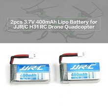 цена на 2pcs Original 3.7V 400mAh 30C RC Helicopter Lipo Battery for JJRC H31 Drone RC Quadcopter Drone Battery RC Airplanes Batteries