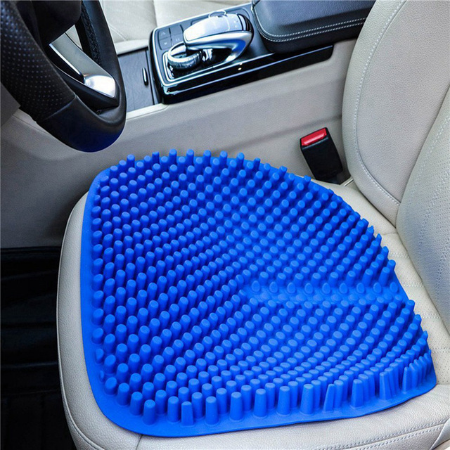Silica Gel Car Seat Cushion Non Slip Chair Pad For Office Truck Home Breathable Silicone Massage Seat Cover 16 5 Inch