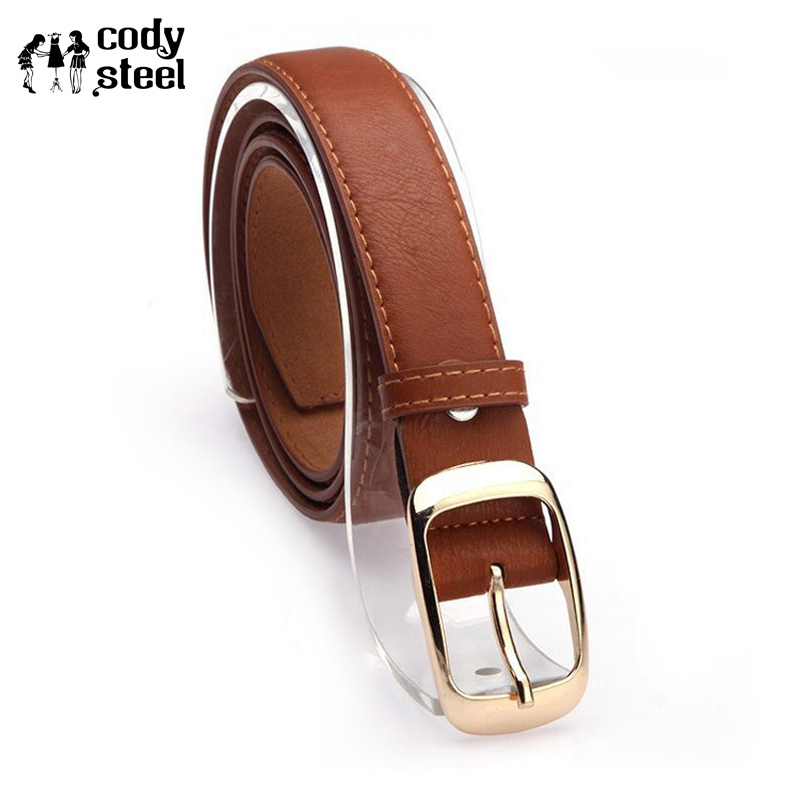 Cody Steel Belts For Female Casual Luxury Jeans Belts Woman Classic Brand Designer PU Leather Metal Buckle Straps Girl Belt
