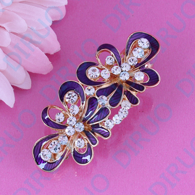High-end Hair Accessories Headwear U-shaped Clipcrystal Rhinestone Hairpin Word Clip Holiday Gift Female Wild Jewelry Apparel Accessories