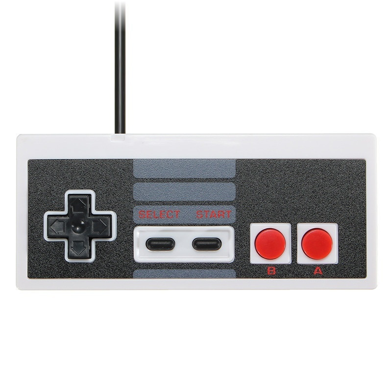 Brand New Wired Controller Gaming Joypad Joystick Controller/ Gamepad for NES Windows PC Computer-Black & White Color