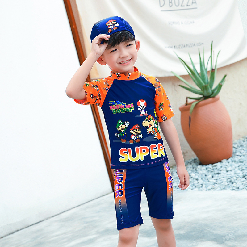 Bathing Suit For Boy Kids Swimsuit Children's Swimwear Baby Kid's Swimsuits Suits Rash Guard Children Korean Three Piece Split