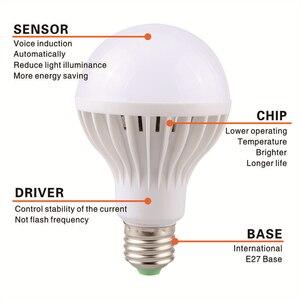 Image 5 - Lattuso led電球モーションセンサーランプ 220v led電球 9 ワットE27 サウンド + ライト自動スマートled赤外線ボディモーションセンサーライト