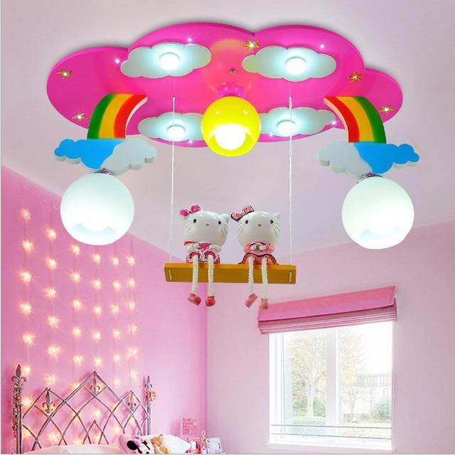 moderne cartoon plafondlamp kids slaapkamer lamp armaturen led lamp voor kinderkamer verlichting meisje room roze