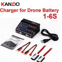 Dual channel 100 W FPV 1-6 s carregador de bateria Li-ion NiCD Li Poli-Li-Fe NiMhr carregador de bateria de equilíbrio carregador de bateria zangão