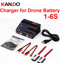 dual channel 100W 1 6s FPV battery charger Li ion Li Poly Li Fe NiCD NiMhr
