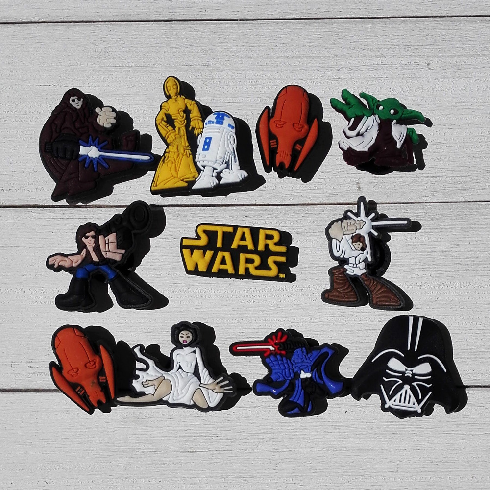 Free shipping 11pcs Star War PVC shoe decoration/shoe charms/shoe accessories fit for shoe with holes Kids Gift & Toy
