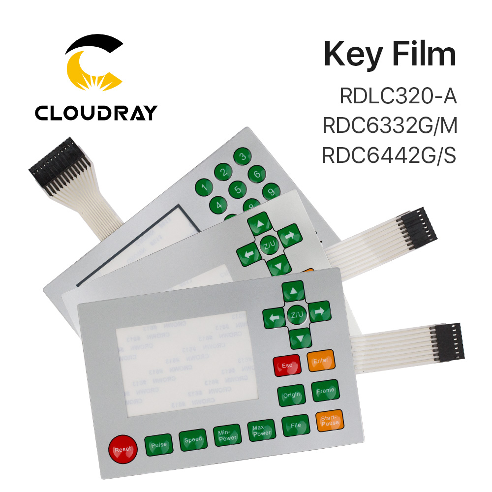 Ruida interruptor de membrana para RDLC320-A RDC6332G RDC6332M RDC6442S RDC6442G clave película teclado máscara