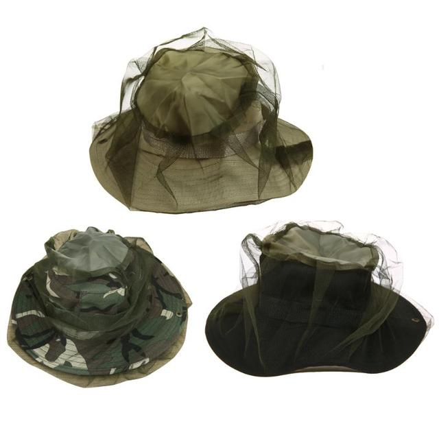 Anti Mosquito Fishing Hat Insect Mesh Head Cover Boonie Hat Mask Face  Protect Caps For OutdoorBeekeeping cabcf6554a9