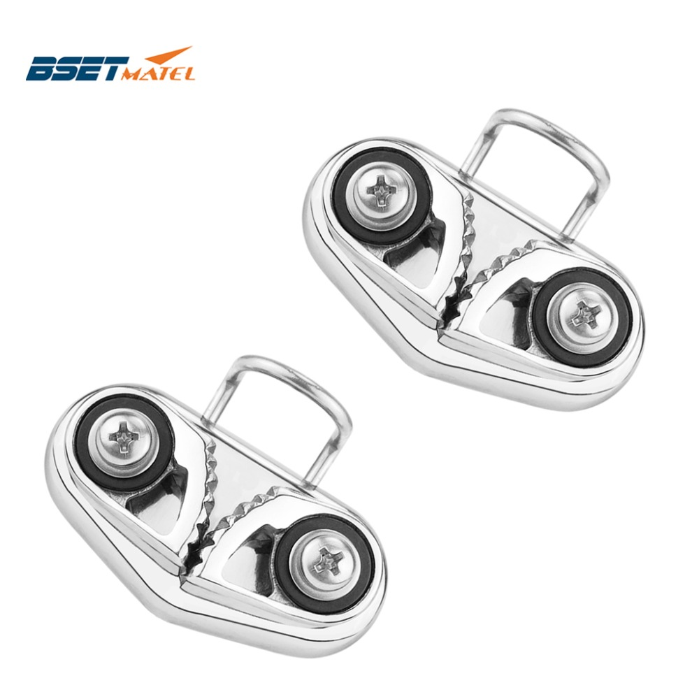 Stainless Steel 316 Cam Cleat with Wire Leading Ring Boat Cam Cleats Matic Fairlead Marine Sailing