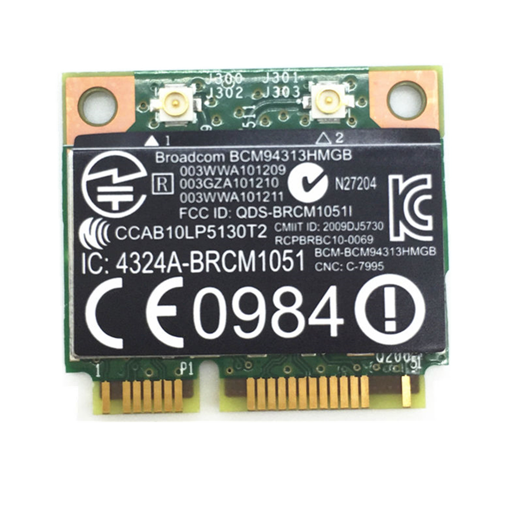 For BroadCom BCM94313HMGB BCM4313 Wifi + Bluetooth 4.0 Mini PCI-E 300Mbps Card For HP G4 G6 DV6 DV7 CQ43 CQ57 SPS 657325-001