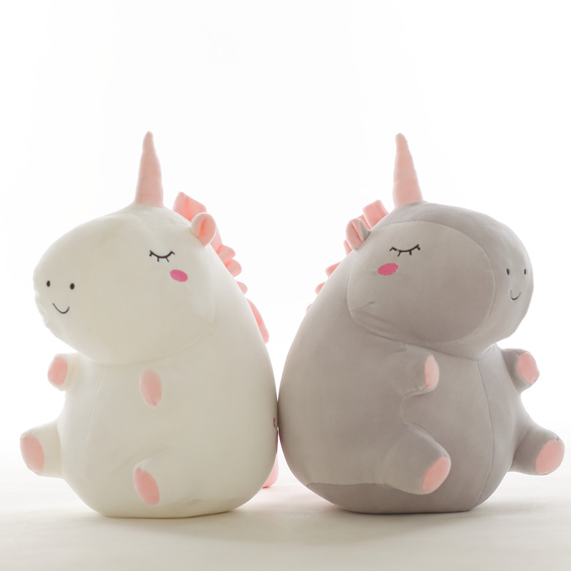 Unicornio de peluche de juguete gordo unicornio muñeca lindo animal de peluche unicornio suave almohada bebé juguetes para niños niña cumpleaños regalo de Navidad 1