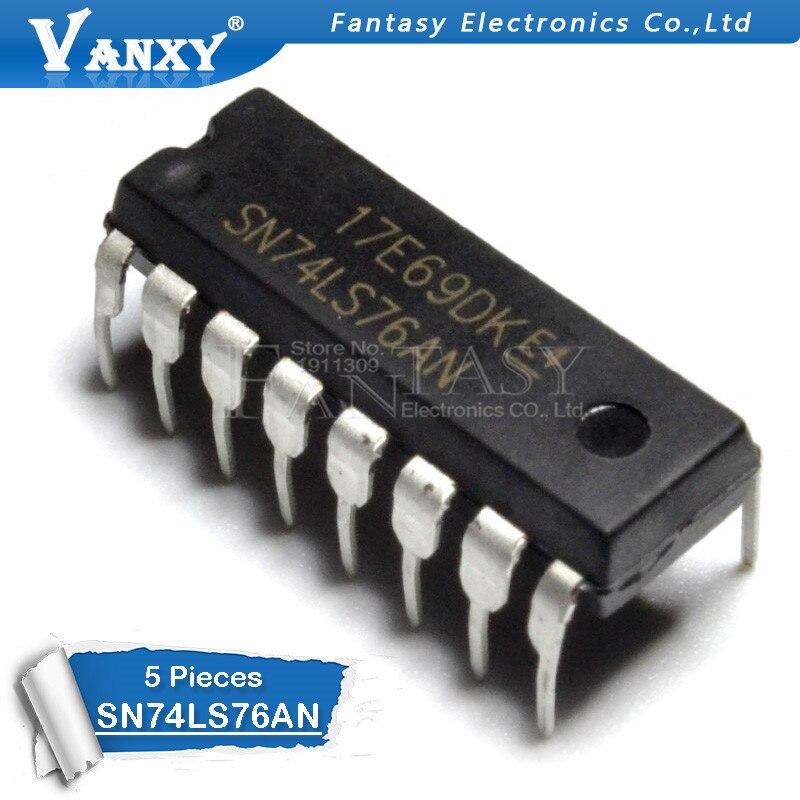5PCS SN74LS76N DIP16 74LS76 DIP HD74LS76AP DIP-16 HD74LS76P SN74LS76AN New Original