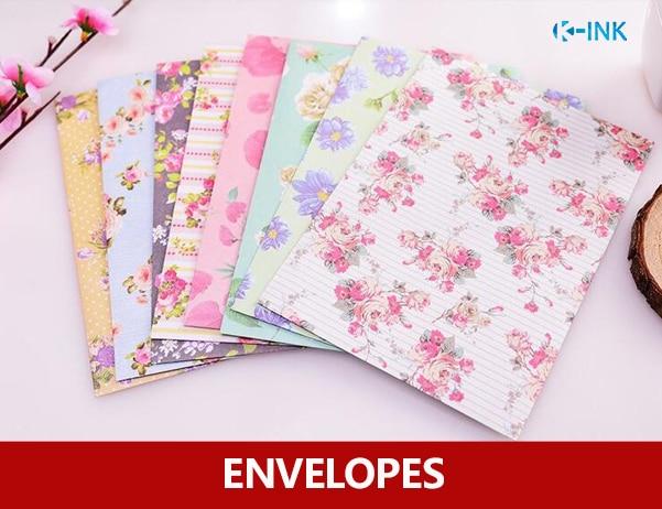 8pcs/lot , floral envelopes , blossom flower paper envelopes