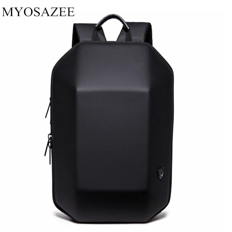 MYOSAZEE Anti Theft Backpack Men Travel Male Bag Black Creative Alien Casual Laptop Backpacks for Teenage School Boy