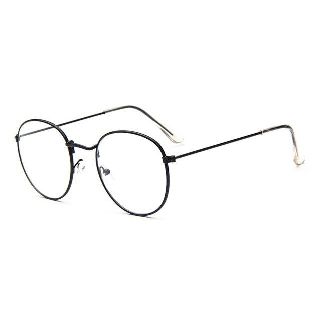 ff815a4d16 2018 Retro Vintage Women Eye Glasses Frames Clear Lens Optical Metal oval  frame glass transparent Lunette